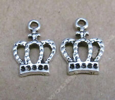 20pc Tibetan Silver Charms Dangle Imperial crown Bead Findings Pendant CPJO209
