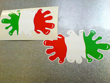 ITALY ITALIAN Flag Splat Van Car Motorcycle Stickers Decals 2 off 100mm