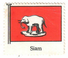 Old Thailand Siam Stamp National Siam Flag Ensign White Elephant State Flag MH