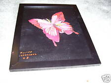 Butterfly painting with black frame