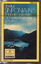 "KARAJAN "" SIBELIUS-SINFONIA 5-FINLANDIA-VALSE TRISTE "" MUSICASSETTA SIGILLATA"
