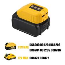 DeWalt 12V/20V MAX *Heated Work Jacket Adapter* DCB091-Battery USB Charger