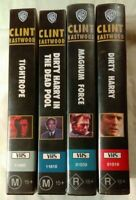 Clint Eastwood VHS Lot of 4 Dirty Harry, Magnum Force, The Dead Pool & Tightrope
