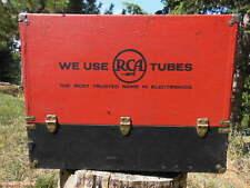 old RCA Color TV Tube Repair Box Technician Case Mid-Century LARGE