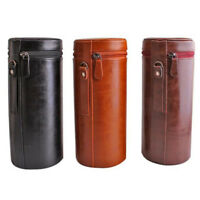 Universal Camera Lens Tube Case Protector Cover Hard PU Leather with Zipper 2018
