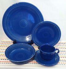 Fiestaware Sapphire 5 Piece Place Setting Fiesta Retired Limited Blue Dish Set