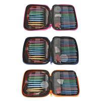 13 Pairs Aluminum Change Head Circular Knitting Needle Ring Set Woven Tool  A#S