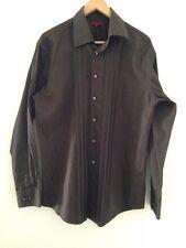 John Chemise noire à manches longues Homme Taille L - < E2273