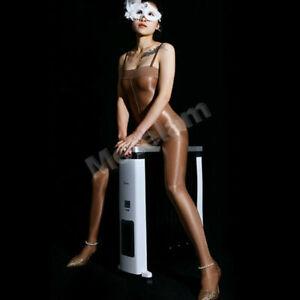 Ladies Sheer Nylon Pantyhose Oil Shiny High Glossy Bodystockings Lingerie Tights