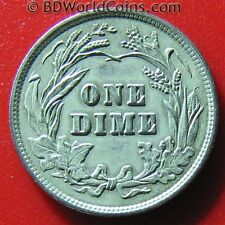 Usa 1900 Barber Dime Silver Nice Details! Great American Collectable Coin! 18mm