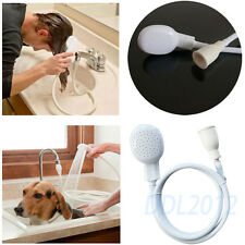 Dog Pet Lave Shower Sink Wash Hair Head Spray Drain Strainer Bath Basin Tap Hose