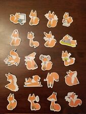 Wildlife Red fox Stickers Stationary Low Price 20 Pcs Design #2