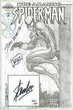 AMAZING SPIDER-MAN 1 AUTHENTIX DYNAMIC FORCES SIGNED STAN LEE JOHN ROMITA SKETCH