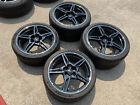 New Factory Chevrolet Corvette Wheels Carbon Flash 2021 C8 Genuine Oem Tires