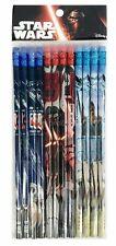 Disney Star Wars Blue Red Pencils School stationary Supplies 12pc