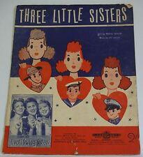 Sheet Music Three Little Sisters Tivoli Swing Vintage Australian ukulele