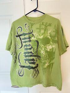 Size XL TAPOUT Green Graphic 100% Cotton T-Shirt MMA UFC Cool Design