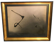 ORIGINAL! BLACK 1952 ENRICO DONATI OIL PAINTING - ABSTRACT EXPRESSIONIST PERIOD