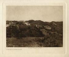 1928 Photogravure on Vellum, Edward Sheriff Curtis, Mihkoyak, A Nunivak Village