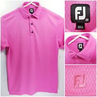 FootJoy FJ Mens Medium Golf Shirt Polo Pink 100% Polyester