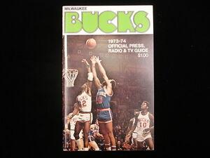 1973-74 Milwaukee Bucks NBA Media Guide