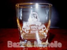 JACK DANIELS WHISKEY 150th BIRTHDAY ANNIVERSARY GLASS TUMBLER ~ BRAND NEW + RARE