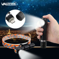 2 in 1 Zoom Focus T6 Headlight USB Rechargeable Flashlight Front Light Lamp Hot