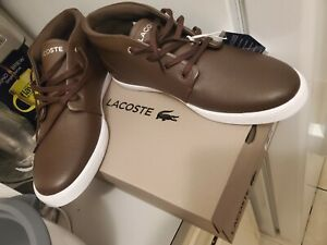LACOSTE Men's Timeless Fashion ASPARTA 319 Brown Leather Sneakers Shoes Size 13