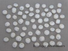LOT DE 350 PERLES DE ROCAILLES BLANC OPAQUE 6/0 Ø4mm 28,18g CREATION BIJOUX
