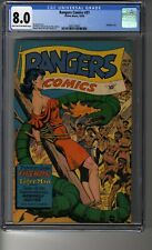 Rangers Comics (1941) # 31 - CGC 8.0 Lt Tan/OW Pages - Jim Doolin Bondage Cover