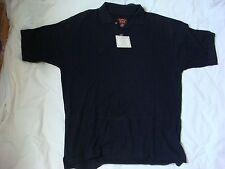 NEW Equus Black Short Sleeve 100% Cotton Size Medium Golf Shirt (B801)