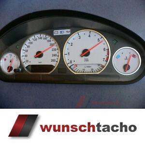"Tachoscheibe für Tacho BMW E36 Benziner ""///M3 Grau"" 260Km/h top"