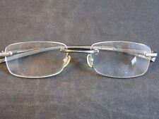 2940d31d21 EYEGLASS FRAME Magnivision CTO110 Alumineyes Rimless Steel Lightweight  Silver