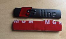 Audi S-Line Black Matte Badge Rear Boot Emblem S Line A 1 2 3 4 5 6 8 Q  RS
