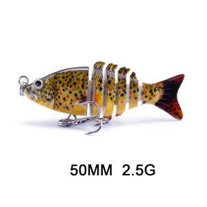 Multi Jointed Topwater Fishing Lures Swimbait Crankbait Fish Tackle wobblers New