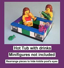 Custom Lego Hot Tub Kiddie Pool Bath Wine Alcohol Soda Frog Bathroom Bath Mini