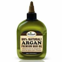 Difeel Premium Natural Hair Oil- Argan Oil 8oz- Moisturizes Dry Hair