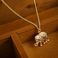 1PC New Women Fashion Gold Plated Elephant Pendant Link Chain Necklace 47.5cm