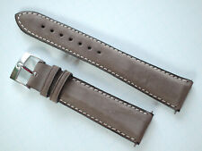 Omega 20 mm width Leather Brown Strap Ref.97672079 & Ω 16mm Buckle