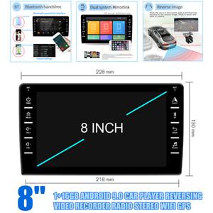 "8"" HD Car Radio Stereo GPS Navi Player IOS/Android Mirror Link 1+16GB Reversing"
