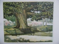 Carl March Signed LE Etching 'Under the Tree'.  Framed landscape