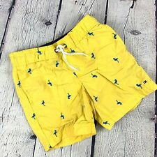 Tommy Hilfiger Boys Yellow Flamingo Swimming Trunks Size 6-7 years