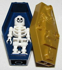 LEGO EGYPTIAN MUMMY COFFIN CONTAINER WITH SKELETON HALLOWEEN FIGURE
