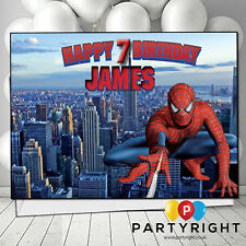 Personalised Spiderman Birthday Card A5 Large - Any Name