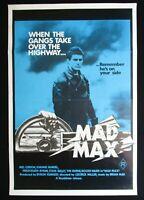 MAD MAX Original Australian movie poster Mel Gibson Hugh Keays-Byrne classic