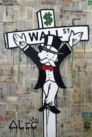Alec Monopoly Abstract Handcraft HUGE OIL PAINTING ON CANVAS Wall street