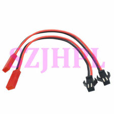 "2pcs JST female to SM 2Pin plug male Adapter 6"" 20awg Wire LED RC battery FPV"