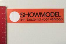 Aufkleber/Sticker: Showmodel - Niet Bestemd Voor Verkoop (1006163)