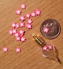20 TINY PINK STARS Magical Fairy Dust  Make Your Own Globe Charm Pendant 5mm