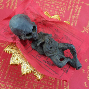 Thai Amulet Talisman Big Head Kuman Thong Ghost Baby Doll Magic Voodoo Black
